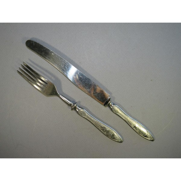 Spoon And Fork With Soviet Symbolic Personal Items