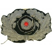 Wehrmacht Heer Aluminum wreath for visor hat, bullion embroidered