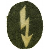 Wehrmacht Heer Signals operator with infantry unit trade patch. Mid war