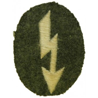 Wehrmacht Heer Signals operator with infantry unit trade patch. Mid war. Espenlaub militaria
