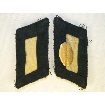 Wehrmacht Infantry officers collar tabs. Tunic removed. Espenlaub militaria