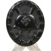 1939 unmarked Black wound badge in steel