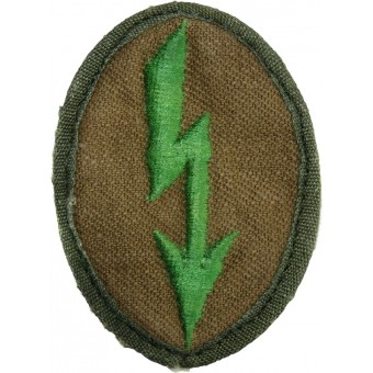 Sleeve trade patch for DAK uniforms- signals troops in the Gebirgsjäger. Espenlaub militaria