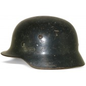 M 35 NS 64 ex DD Wehrmacht Heer, Luftwaffe re-issued steel helmet