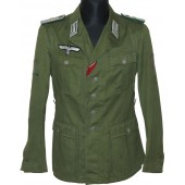 M 40 tropical tunic for Lieutenant of Geb Jag Rgt 91