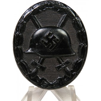 Near mint steel, Wound Badge in Black, unmarked. Espenlaub militaria