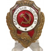 "Soviet Distinguishing badge - ""Excellent Driver"""