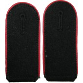 Waffen SS Artillery shoulder boards with red piping