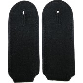 Waffen SS Pioneer shoulder boards with black vikose piping