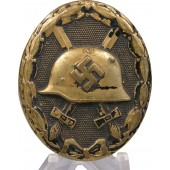 Black wound badge 1939, brass
