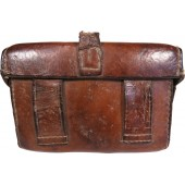 Imperial Russian box-shaped leather pouch for the Mosin rifle