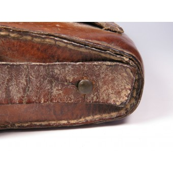 Imperial Russian box-shaped leather pouch for the Mosin rifle. Espenlaub militaria
