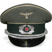 Wehrmacht Infantry officer's visor cap. Salty condition