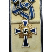 3rd Reich Mother cross in gold with original box of issue R.Souval Wien