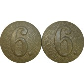Tunic buttons for shoulder straps of the Wehrmacht. 6 company