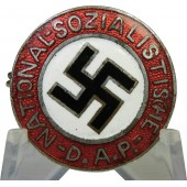 "NSDAP member badge, early curved ""C"" GES.GESCH"