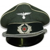 Wehrmacht infantry officers visor hat from standard field cloth