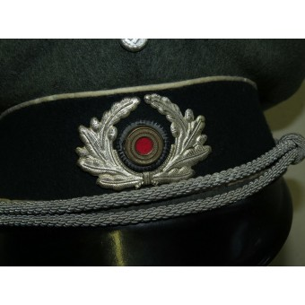 Wehrmacht infantry officers visor hat from standard field cloth. Espenlaub militaria