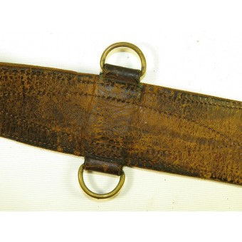 Soviet Russian leather belt M 35 for command personnel with star buckle. Espenlaub militaria