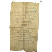 """German help to USSR"", Flour bag. Pre-war made"