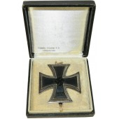 EK1, Iron Cross 1939, 1st class with box. Wilhelm Deumer