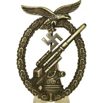 Luftwaffe FLAK badge, maker Adolf Scholze, Grunwald. Espenlaub militaria