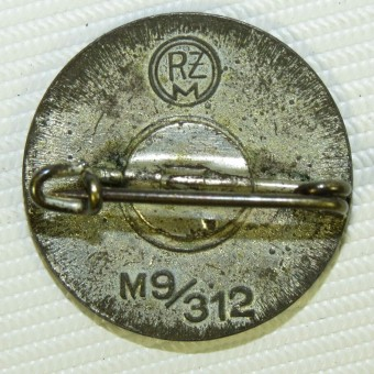 NSDAP zink made party badge, RZM M9/312. Espenlaub militaria