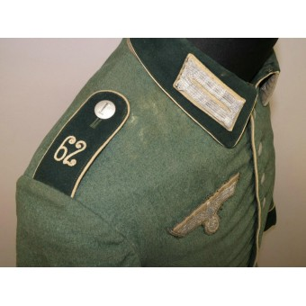 Salty Waffenrock with Kammerstempel and straps of 62 Inf Rgt. Espenlaub militaria