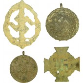 Set of 4 awards from 3rd Reich period.  Battlefield found