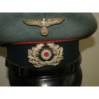 Wehrmacht Artillery visor hat, early Peküro for enlisted men. Espenlaub militaria