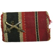 Ribbon bar for the veteran of the Eastern Front. War Merit Cross with Swords, WiO medal