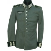 The parade tunic to obergefreiter of the 19th Bavarian infantry regiment of the Wehrmacht