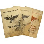 3 educational propaganda textbooks for the Hitler Youth