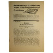 Educational brochure for Wehrmacht soldiers. Must have in a backpack