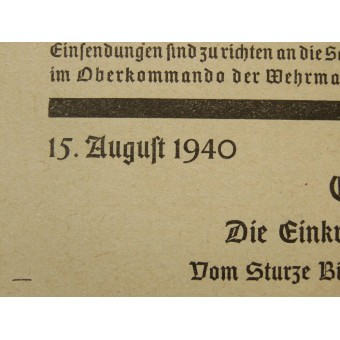 Educational brochure for Wehrmacht soldiers. Must have in a backpack. Espenlaub militaria