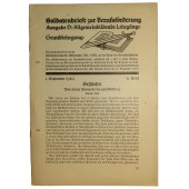 Educational material for Wehrmacht.  Soldiers letters for career promotion