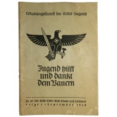 German youth  helps and thanks the farmers- Propaganda teaching book for HJ