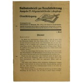 Educational literature for Wehrmacht soldiers. First issue