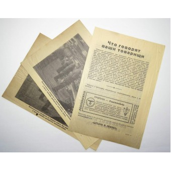 German leaflet 828 XII. 43 The truth about life in German captivity. Espenlaub militaria