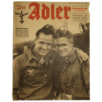 Der Adler, 1. August 1942, Aviation comradeship Knightcrossman Captain Zemski. Espenlaub militaria