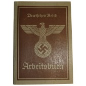 3rd Reich employment record book - printery worker