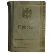Wehrpaß for WW1 veteran, served in E/Btl J.R 126