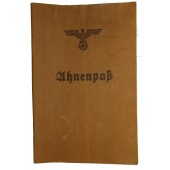 Ahnenpaß - 3rd Reich bloodline passport, issued by Zentralverlag der NSDAP