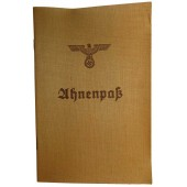 Ahnenpaß, blank ancestry passport, 3rd Reich issue
