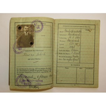 German traveler passport. Espenlaub militaria