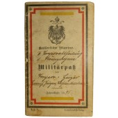 Imperial German navy paybook. Militärpaß