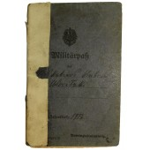 WW1 German soldiers paybook Militärpaß