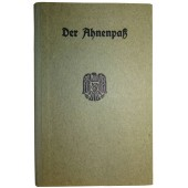3rd Reich hard cover Ahnenpass, issued to Bichler Hermann