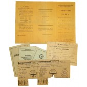 6 3rd Reich German documents