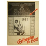"Advertising brochure - The new Calendar for 1938 year, issued by magazine ""Die Wehrmacht"""